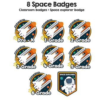 Space Theme Badges - Amazing Space