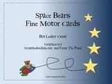 Space Bear Fine Motor Cards
