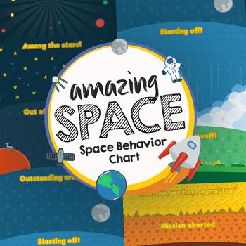 Space Theme Behavior Chart - Amazing Space