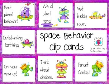 Space Behavior Clip Chart Cards