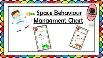 Space-Astronauts BEHAVIOUR MANAGMENT CHART- Back to School!