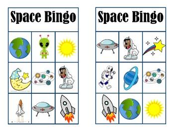 Space Bingo by Library Dragon Lady | Teachers Pay Teachers