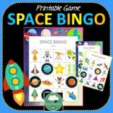 Space Bingo - Cute Space Themed Bingo Game for Preschool & K-2 kids