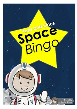 Preschool Fun Activity - Math Space Bingo (Tens and Ones Place Value)