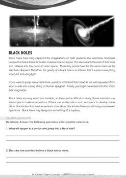Space - Blacks Holes - Grade 6
