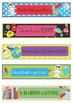 SPACE Bookmarks, Shelf Markers or Desk Name Plates