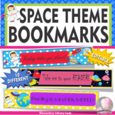 SPACE Bookmarks, Shelf Markers or Desk Name Plates - EDITABLE
