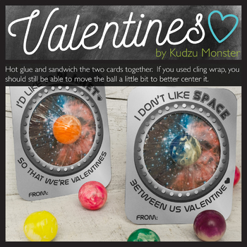 Space Bouncy Ball Valentine