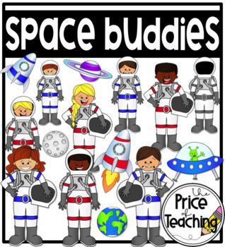 Space Buddies Clipart Set