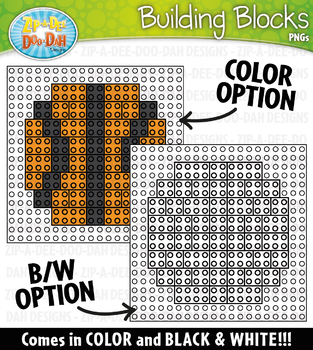 Sports Building Blocks Clipart {Zip-A-Dee-Doo-Dah Designs}
