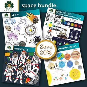 Space Clip Art Bundle