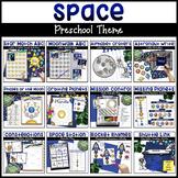 Space Activities for Preschoolers Bundle | Math, Literacy,