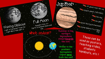 Space Bundle - Planets, Stars, Seasons, Moon Phases