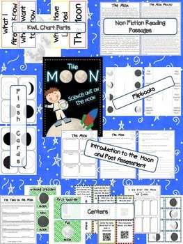 Space Bundle {Science Units on the Moon, the Planets and the Stars}