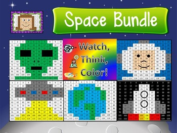 Space Bundle Watch, Think, Color Games - EXPANDING BUNDLE