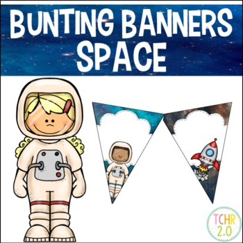 Space Bunting Banners Pennants Welcome Reading Writing Math