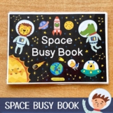 Space Busy Book Printable, Toddler First Busy Book Pdf, Toddler Busy Binder