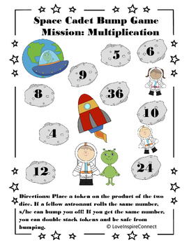 Space Cadet Multiplication Bump Game