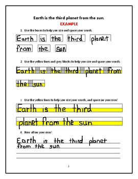 Handwriting Legibility Practice: A Space Adventure Writing Packet