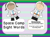 Space Camp Sight Word Cards