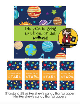 Space Candy Bar Wrappers | Back to School