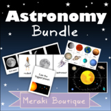 Space Card Game Bundle; (Planets, Moon Phases, and Astrono