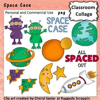 Space Case Clip Art personal & commercial use Aliens planets C Seslar