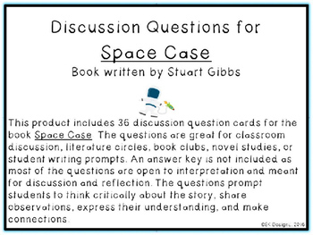 Space Case Discussion Question Cards
