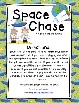 Space Chase - A Long A Word Board Game