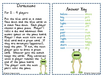 Space Chase Antonym Race - Fun game for 2-4 players!