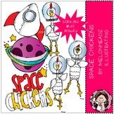 Space Chickens clip art - Mini - Melonheadz Clipart
