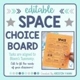 Space Choice Board (Sun, Moon, & Stars) - Editable