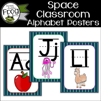 Space Classroom Alphabet Posters