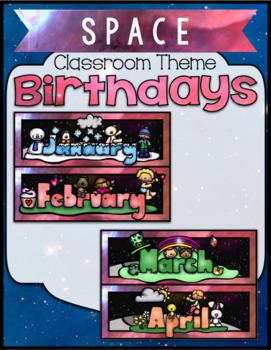 Space Classroom ~ Birthday Board