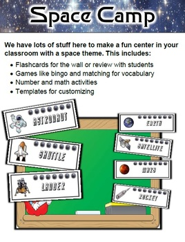 Space Classroom Center Bundle