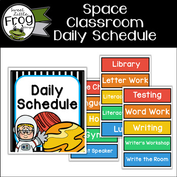 Space Classroom Daily Schedule