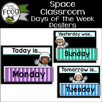 Space Classroom Days of the Week Posters