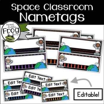 Space Classroom Nametags - Editable