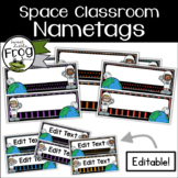 Space Classroom Nametags - Editable