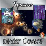 Space Classroom Themed Folder / Binder Covers