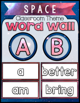 Space Classroom ~ Word Wall