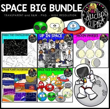 Space Clip Art Big Bundle {Educlips Clipart}
