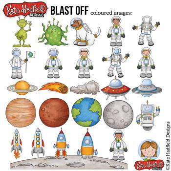 "Space Clip Art: ""Blast Off!"""