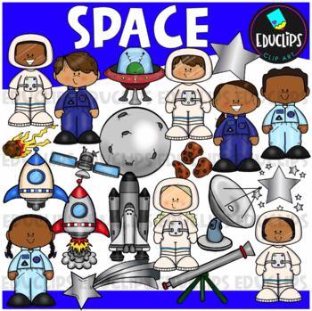Space Clip Art Bundle {Educlips Clipart}