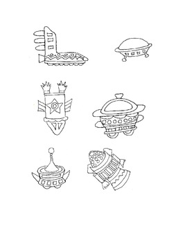 Space Clip Art, Follow Me Some Are Free, Black and White