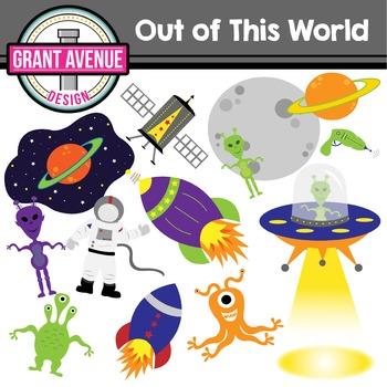 Space Clipart - Alien Clipart - Outerspace
