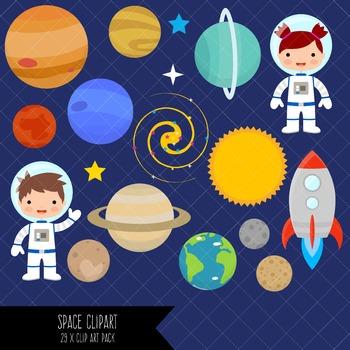 Space Clip Art / Astronaut Clipart
