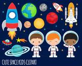 Space Clipart, Astronaut Clipart, Rocket, Outer Space Clipart, Alien Clipart