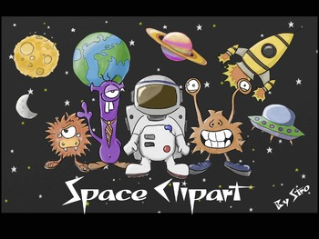 Space Clipart - Astronauts, UFOs, Aliens, Planets, Rockets