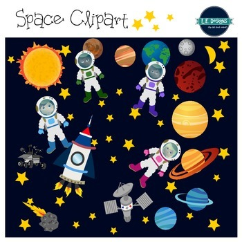 Space Clipart & Digital Papers {L.E. Designs}